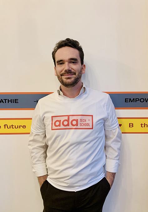 Adrien encadrant à Ada Tech School depuis septembre 2020